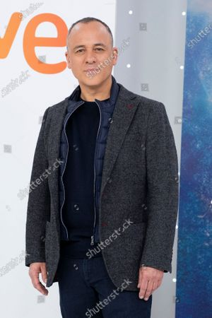 Stock Picture of Actor Javier Gutierrez seen during the 'Estoy Vivo' photocall at RTVE.