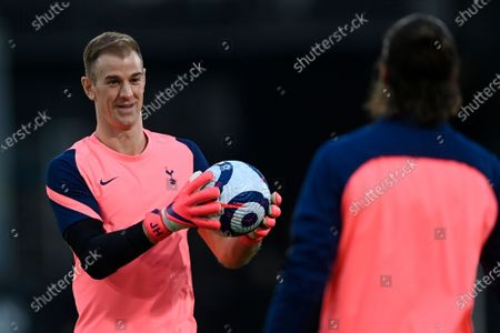 Tottenham's goalkeeper Joe Hart warms-up for the English Premier League soccer match between Fulham FC and Tottenham Hotspur in London, Britain, 04 March 2021.