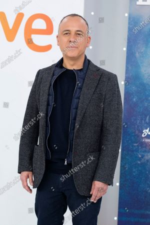 Actor Javier Gutierrez attends 'Estoy Vivo' photocall at RTVE on March 04, 2021 in Madrid, Spain.