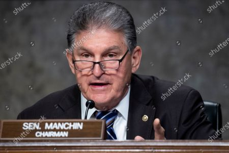 Chairman of the Senate Energy and Natural Resources Committee, Democrat of West Virginia, Joe Manchin attends the Senate Energy and Natural Resources Committee hearing on the nomination of David Turk (not pictured) to be Deputy Secretary of Energy, on Capitol Hill in Washington, DC, USA, 04 March 2021.