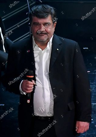 Francesco Pannofino on stage at the Ariston theatre during the 71st Sanremo Italian Song Festival, Sanremo, Italy, 04 March 2021 (issued 05 March 2021). The festival runs from 02 to 06 March.