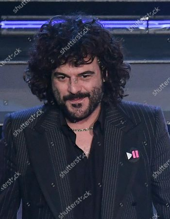 Francesco Renga on stage at the Ariston theatre during the 71st Sanremo Italian Song Festival, Sanremo, Italy, 04 March 2021 (issued 05 March 2021). The festival runs from 02 to 06 March.