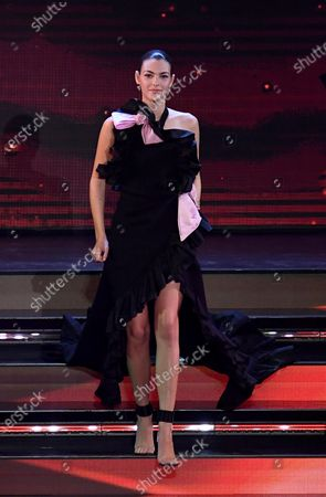 Vittoria Ceretti on stage at the Ariston theater during the 71st Sanremo Italian Song Festival, in Sanremo, Italy, 04 March 2021. The festival runs from 02 to 06 March.