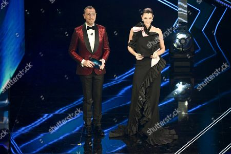 Vittoria Ceretti on stage at the Ariston theater during the 71st Sanremo Italian Song Festival, in Sanremo, Italy, 04 March 2021.