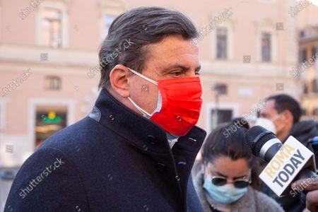 Stock Image of Carlo Calenda, leader of Azione