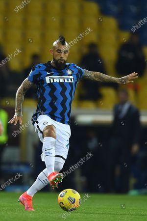 "Arturo Vidal (Inter)           during the Italian ""Serie A  match between Parma 1-2 Inter at  Ennio Tardini Stadium in Parma, Italy."