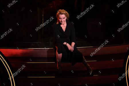 Monica Guerritore during the third night of the 71st Italian Song Festival