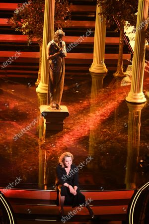 Achille Lauro and Monica Guerritore during the third night of the 71st Italian Song Festival