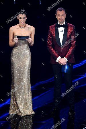 Vittoria Ceretti Amadeus and Fiorello