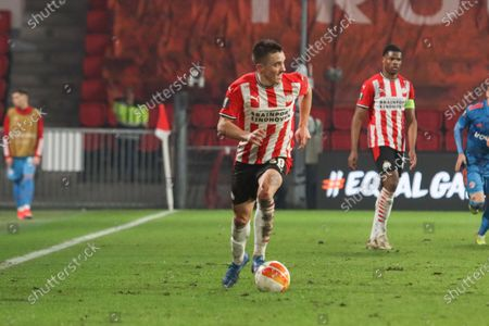 Stock Picture of Ryan Thomas #30 of PSV  during the UEFA Europa League match between PSV v Olympiakos Piraeus at the Philips Stadium on February 25, 2021 in Eindhoven Netherlands.