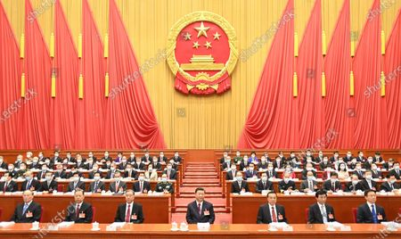 The fourth session of the 13th National People's Congress (NPC) opens at the Great Hall of the People in Beijing, capital of China, March 5, 2021.   Leaders of the Communist Party of China (CPC) and the state Xi Jinping, Li Keqiang, Wang Yang, Wang Huning, Zhao Leji, Han Zheng and Wang Qishan attended the opening meeting of the fourth session of the 13th NPC, and Li Zhanshu presided over the meeting.