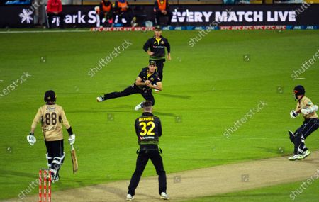 Stock Picture of Australia's Mitch Marsh catches Kane Williamson off Glenn Maxwell during the 4th international men's T20 cricket match between the New Zealand Black Caps and Australia at Sky Stadium in Wellington, New Zealand on Friday, 5 March 2021.