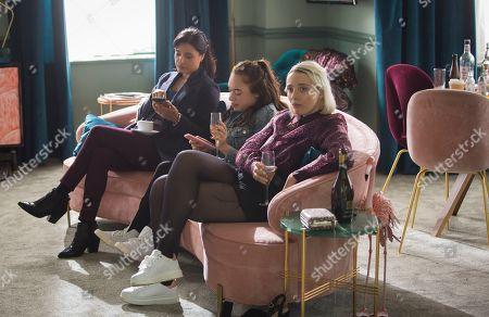 Shelley Conn as Hilary O'Doyle, Maya Coates as Melissxa Mcgruder and Kat Ronney as Cath Taylor.