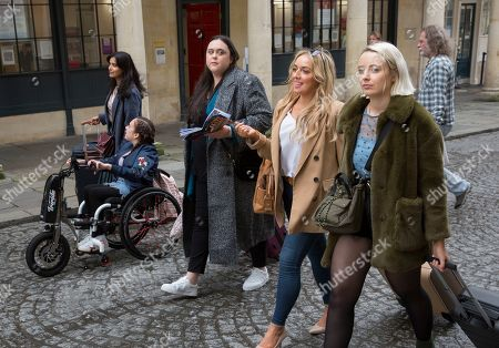 Stock Picture of Shelley Conn as Hilary O'Doyle, Sharon Rooney as Doreen Warren, Joy McAvoy as Angela Mcgruder, Maya Coates as Melissxa Mcgruder and Kat Ronney as Cath Taylor.