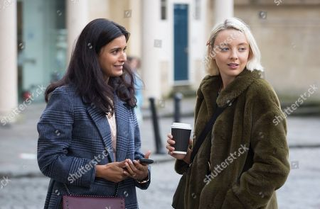 Stock Picture of Shelley Conn as Hilary O'Doyle and Kat Ronney as Cath Taylor.
