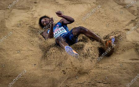 Men's Triple Jump Heats. France's Melvin Raffin
