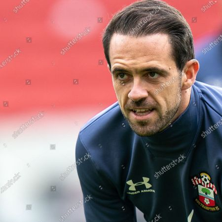 Danny Ings of Southampton close up during warm up; Bramall Lane, Sheffield, Yorkshire, England; English Premier League Football, Sheffield United versus Southampton.