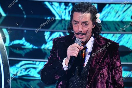 Max Gazze performs on stage at the Ariston theater during the 71st Sanremo Italian Song Festival, in Sanremo, Italy, 05 March 2021. The festival runs from 02 to 06 March.