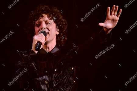 Ermal Meta performs on stage at the Ariston theatre during the 71st Sanremo Italian Song Festival, Sanremo, Italy, 05 March 2021. The festival runs from 02 to 06 March.