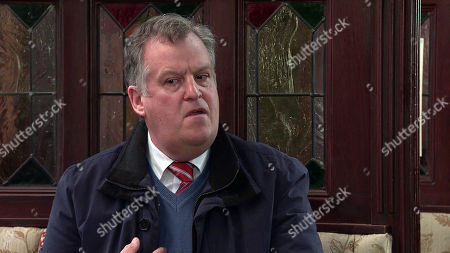 Coronation Street - Ep 10281 Wednesday 24th March 2021 - 1st Ep Jenny Connor tells Brian Packham, as played by Peter Gunn, he's barred for making nasty comments online about Steve, Cathy Matthew's mortified.