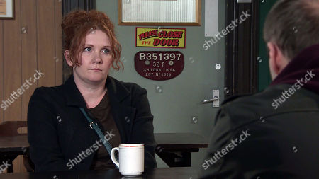 Coronation Street - Ep 10280 Monday 22nd March 2021 - 2nd Ep After a pep talk from Chesney, Tyrone Dobbs, as played by Alan Halsall, assures Fiz Stape, as played by Jennie McAlpine, that Alina means nothing, she and the girls are his life and he'll do whatever it takes to put things right.