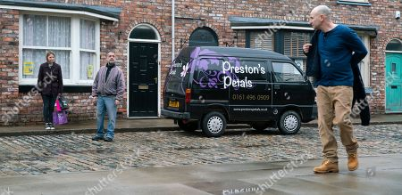Coronation Street - Ep 10278 Friday 19th March 2021 - 2nd Ep Tim Metcalfe, as played by Joe Duttine, is made up to be asked to be chief usher at Kevin Webster, as played by Michael Le Vell, and Abi's wedding.