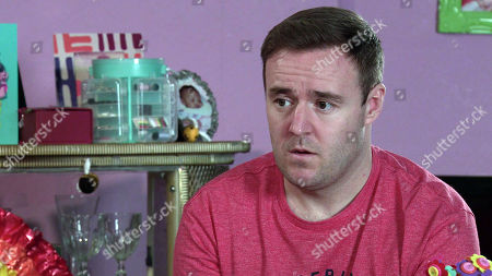 Coronation Street - Ep 10278 Friday 19th March 2021 - 2nd Ep When Fiz Stape suggests they could just get married, Tyrone Dobbs, as played by Alan Halsall, slaps the idea down.