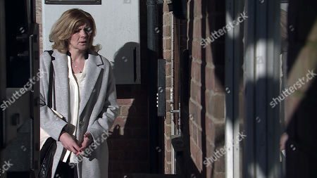Coronation Street - Ep 10274 Monday 15th March 2021 - 2nd Ep At a seedy flat, a menacing bloke ushers Leanne Tilsley, as played by Jane Danson, in while he checks the pills, fights back tears.