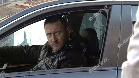 Coronation Street - Ep 10273 Monday 15th March 2021 - 1st Ep Leanne Tilsley, as played by Jane Danson, masks her panic. Approaching Harvey's, as played by Will Mellor, car with trepidation she hands him the £1k, telling him she's Simon's Mum and that's all he's getting. Harvey makes it clear he wants the rest or he'll put them in hospital.