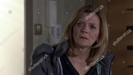 Coronation Street - Ep 10272 Friday 12th March 2021 - 2nd Ep Simon Barlow tells Leanne Tilsley, as played by Jane Danson, about Harvey. Leanne reaches a decision and says they've no choice but to go to the police. But as they head out they hear about Kelly. In panic, Simon insists they can't go to the police now as he sold the pills. Appalled, Leanne tells Simon she'll meet Harvey and sort this.