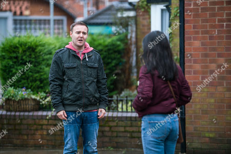 Coronation Street - Ep 10269 Wednesday 10th March 2021 - 1st Ep After finding out her family dog back in Romania has died, Alina Pop, as played by Ruxandra Porojnicu, bursts into tears in the street. Tyrone Dobbs, as played by Alan Halsall, is sympathetic and tells Alina about his own dog Monica.