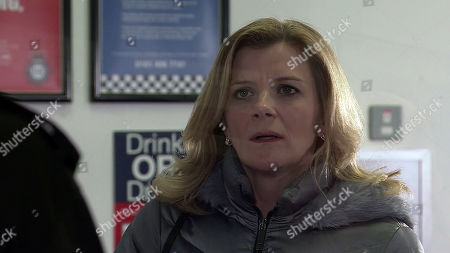 Coronation Street - Ep 10282 Wednesday 24th March 2021 - 2nd Ep Having reached a decision Leanne Tilsley, as played by Jane Danson, goes to the police station and reports Harvey for his drugs operation, only to find herself arrested! Leanne fears she's made a terrible mistake.