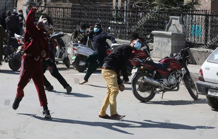 Editorial image of Clashes in Srinagar over separatist leader's detention, India - 05 Mar 2021