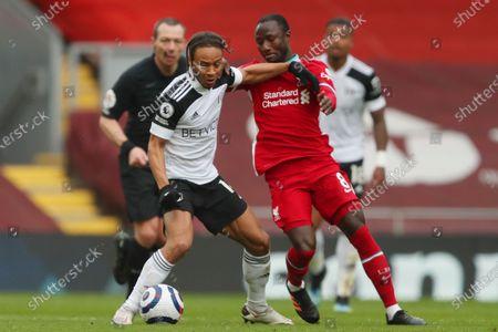 Bobby Reid of Fulham and Naby Keita of Liverpool
