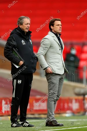 Stock Image of Fulham manager Scott Parker and assistant manager Stuart Gray