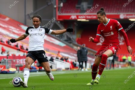 Bobby Decordova-Reid of Fulham and Rhys Williams of Liverpool