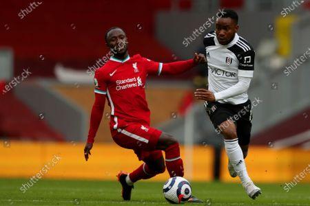 Naby Keita of Liverpool and Ademola Lookman of Fulham