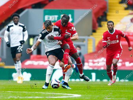Mario Lemina of Fulham and Naby Keita of Liverpool