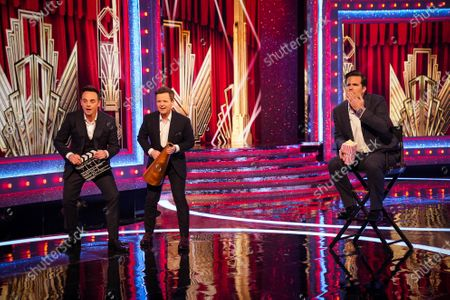 Anthony McPartlin and Declan Donnelly with Rob Delaney