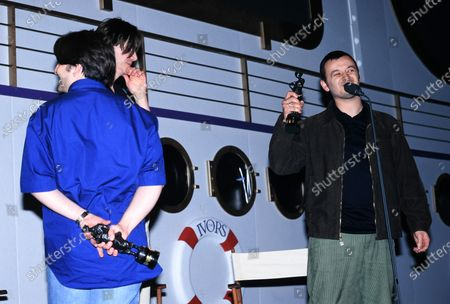 L -R Sean Moore, Nicky Wire and James Dean Bradfield - Manic Street Preachers - Ivor Novello Awards 1997