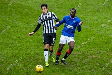 Glen Kamara of Rangers and Jamie McGrath of St Mirren during the Scottish Premiership at Ibrox Stadium, Glasgow.