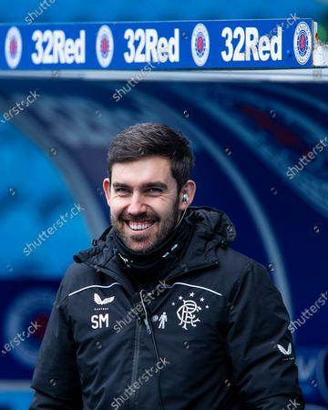 Rangers 1st team analyst Scott Mason during the Scottish Premiership at Ibrox Stadium, Glasgow.