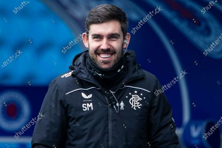 Stock Picture of Rangers 1st team analyst Scott Mason during the Scottish Premiership at Ibrox Stadium, Glasgow.