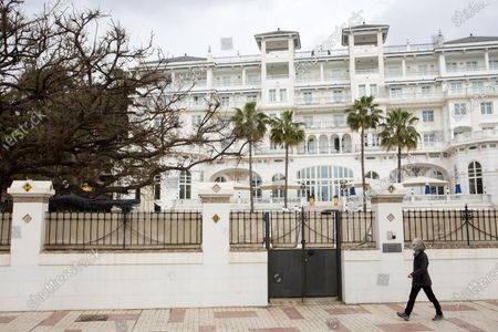 A view of Gran Miramar Hotel in Malaga, Spain, 05 March 2021, where the red carpet event before the Goya Awards will be held on 06 March 2021. Malaga will be the second city, after Madrid, to host more than one Goya Awarding Ceremony, that in 2021 will be handing in the Goya of Honor to Spanish actress Angela Molina.
