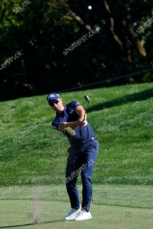 Henrik Stenson, of Sweden, hits from the fairway on the eighth hole during the second round of the Arnold Palmer Invitational golf tournament, in Orlando, Fla