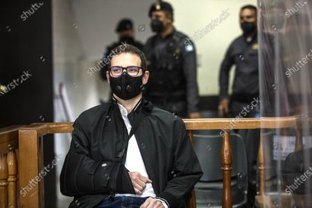 Stock Picture of Luis Enrique Martinelli Linares, son of former Panamanian President Ricardo Martinelli (2009-2014), appears before a court to learn the reasons for his possible extradition to the United States, a country that required him for money laundering, in Guatemala City, Guatemala, 05 March 2021. Luis Enrique, 38, and his older brother, Ricardo Alberto Martinelli Linares, 40, were arrested in Guatemala on 06 July 2020 at the request of the United States for an extradition order due to the alleged crime of money laundering.