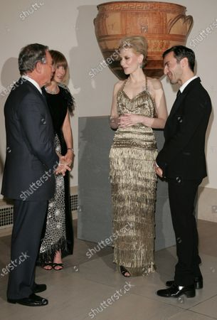 Stock Image of Mayor Michael Bloomberg, Anna Wintour, Cate Blanchett and Nicholas Ghesquiere