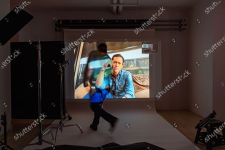 Exclusive - Sundance Film Festival Winner U.S. Dramatic Special Jury Award for Acting in the film Jockey, Clifton Collins Jr. poses from a remote location for a portrait in a virtual studio in Shutterstock's headquarters in NYC's Empire State Building.