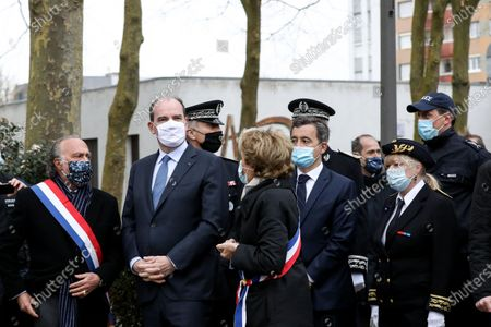 Editorial image of Jean Castex and Gerald Darmanin meet the internal security forces of the Oise Beauvais department, Beauvais, France - 05 Mar 2021