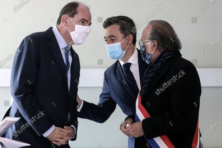 Editorial picture of Jean Castex and Gerald Darmanin meet the internal security forces of the Oise Beauvais department, Beauvais, France - 05 Mar 2021